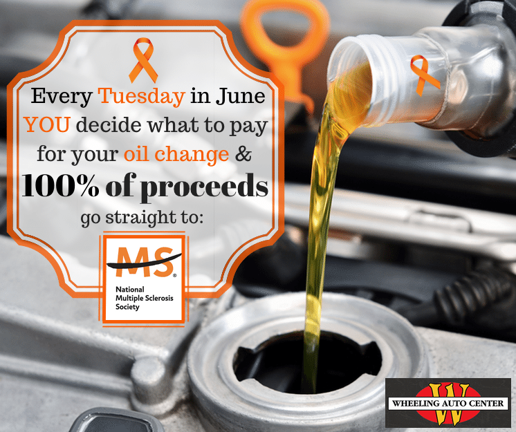 Name Your Oil Change Price Tuesday to raise money for The MS Society